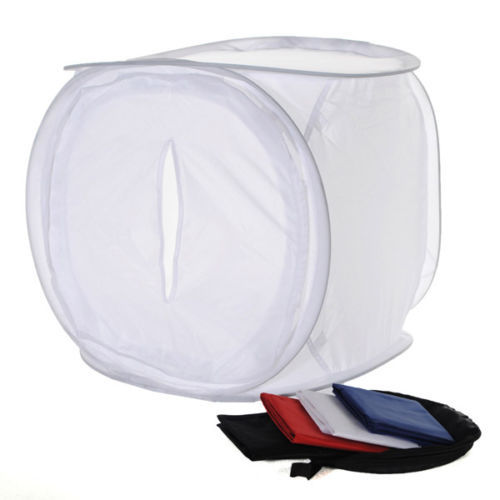 EDT 40x40cm Photo Studio Shooting Light Box Tent+4Color Backdrops