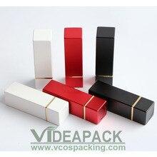 50 шт. 4 г Белый Черный Красная помада трубки/квадратный металлический алюминиевый тюбик помады/стандартный внутренний размер чашки 12.1 мм