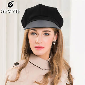 6ae0428ea69 GEMVIE Women Berets Octagonal Cap Lady Vintage Newsboy Hat