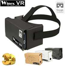 Winex VR Google Cardboard 2.0 Virtual Reality Ultra Clear VR 3D Glasses VR BOX BOBO Z4 for 3.5-6″ Smart Phone with High Quality