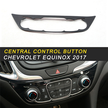 Central Control Button Switch Circle Cover Frame Sticker Interior Accessories for Chevrolet Equinox 2017 Car Styling