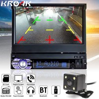 Universal 1DIN 7 Inch HD Touch Screen Car Stereo MP3 MP5 FM Bluetooth Player With Rear