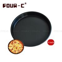 8 Inch Thicked 2.5 cm Deep Pizza Ronde Pan Aluminium Disc Pizza Stenen Keuken Bakken DIY Lade Pizza Gereedschap