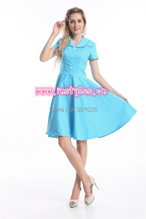 Blue 40's style dress