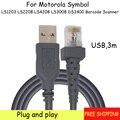 Бесплатная доставка Новый 3 шт USB 3 метра кабель сканера штрих-кода для LS1203 LS2208 LS4208 LS3008 DS3400 сканер штрих-кода Высокое качество