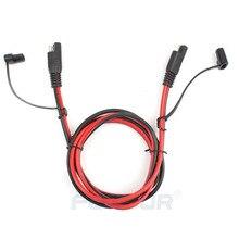 FOXSUR 1,5 м SAE кабель-удлинитель 16 AWG 2 Pin проводов сверхмощный DC Шнур Quick Disconnect /подключения SAE ведет с Кепки