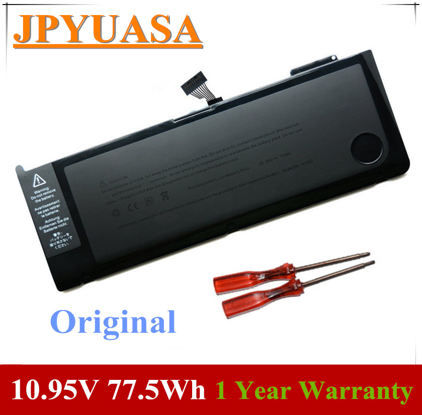 7XINbox 10.95V 77.5Wh A1382 A1286 Laptop BATTERY For Apple MacBook Pro Unibody 15