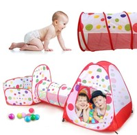 Toy Tent Kids Crawling Tunnel Play Tents Baby Ball Pit Tent for Children Dot Pattern Toy Ball Pool for Ocean Ball Basket Toys