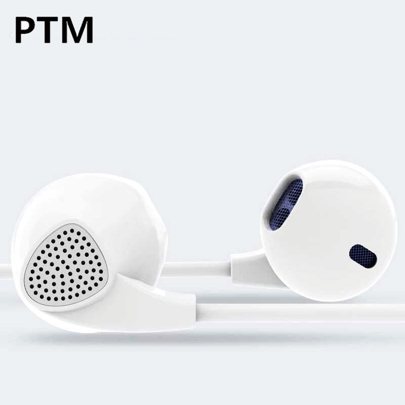 PTM Brand Earbuds Earphone Earpieces IM500 Headset With Microphone Stereo Earphones For iPhone Airpods 5S 6S SE Plus Xiaomi MI 5 kz wired in ear earphones for phone iphone player headset stereo headphones with microphone earbuds headfone earpieces auricular