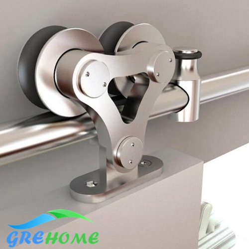 Top-Mount Stainless Steel Interior Sliding Barn Wooden Door Hardware Track Set