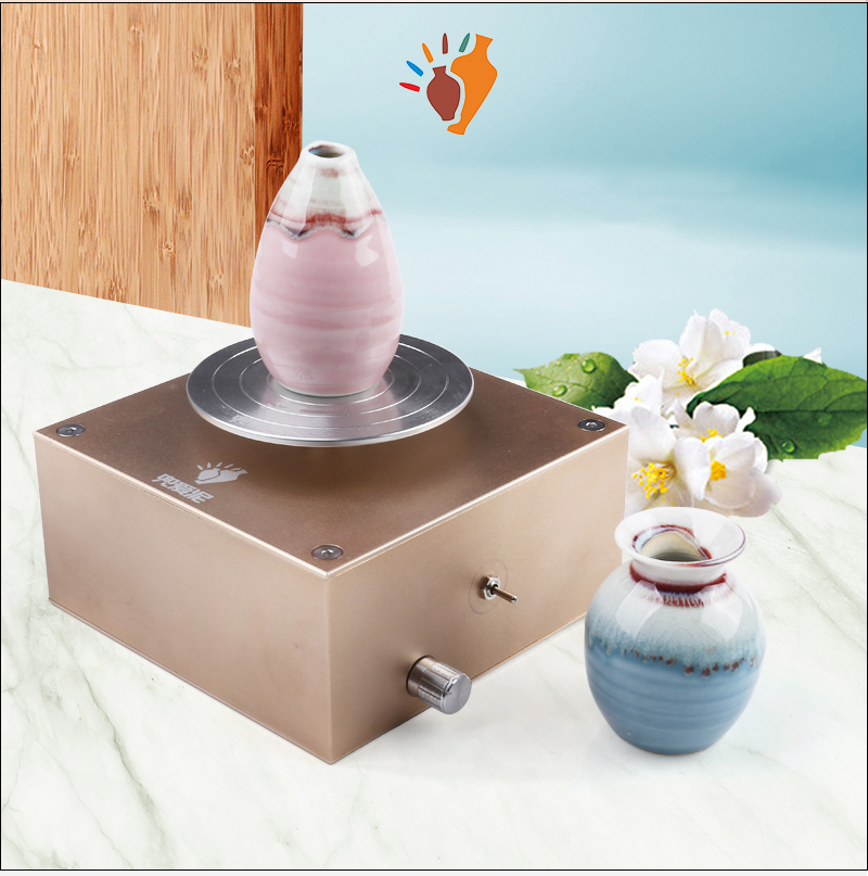 12V Rechargeable DIY Mini Ceramic Art Production Machine Clay Making Pottery Machine 2000mA 2000RPM Y