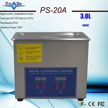 Heated Ultrasonic-Cleaner PS-20A Free-Basket Digital 40khz 3L Timer Jietai with RU Local