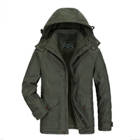 Brand Parka Men Winter Jacket Men AFS JEEP Casual Cotton Padded Hood Fur Jacket High Quality