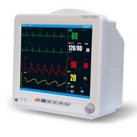 Medical Equipment Health Care Portable ICU Patient Monitor Pulse Rate Blood Pressure Temperature Oximeter YK8000C