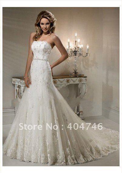 A Line Skirt Wedding Dresses