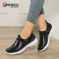 WWKK Brand Sneakers Women Casual Comfortable Autumn Shoes Woman Slip On Walking Sport Shoes New Female Large Size Ladies Shoes
