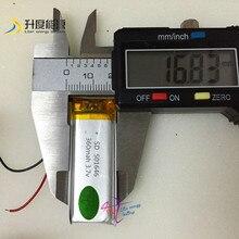 3.7 v 501646 360 mah batería recargable PCB y cable de baterías Recargables