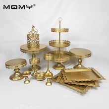 1PCS /Set Gold Pink White Silver Wedding 3 Tier Metal  Small Birdcage Cake Stand