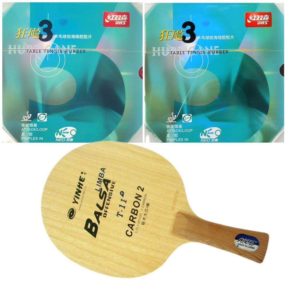 ФОТО Pro Table Tennis PingPong Combo Racket Galaxy T-11+ with 2x DHS NEO Hurricane 3