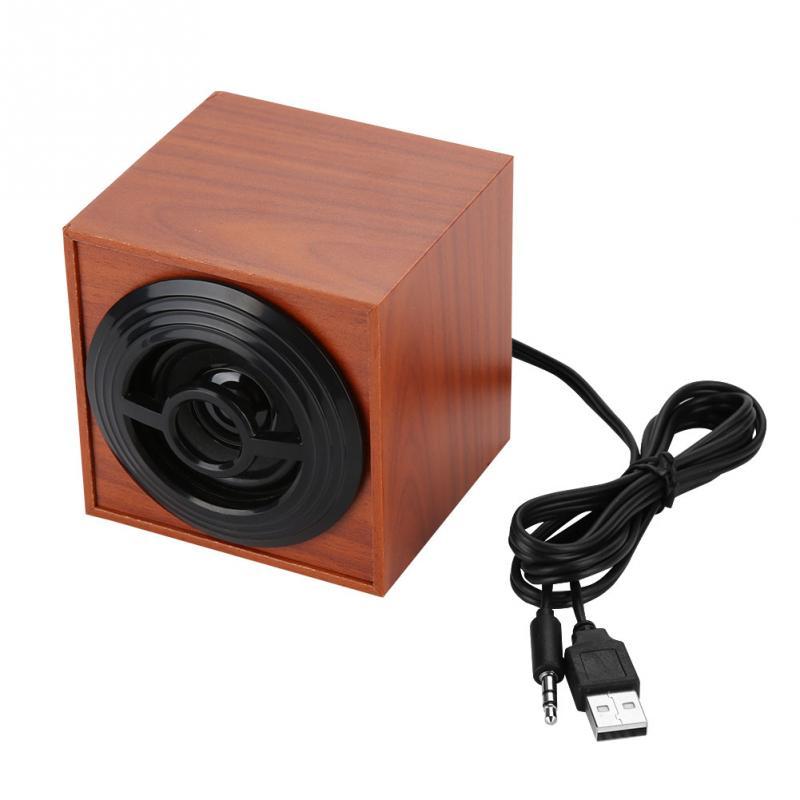 Mini En Bois USB Ordinateur Haut-parleurs Ordinateur Portable Subwoofer De Bureau Haut-Parleur Subwoofer Ordinateur Basse PC Haut-Parleur