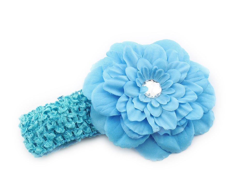 Beautiful baby hair accessories - 2014 New Fashion Hair Accessories Baby Girl Beautiful Crochet Blue Peony Flower Hair Clip