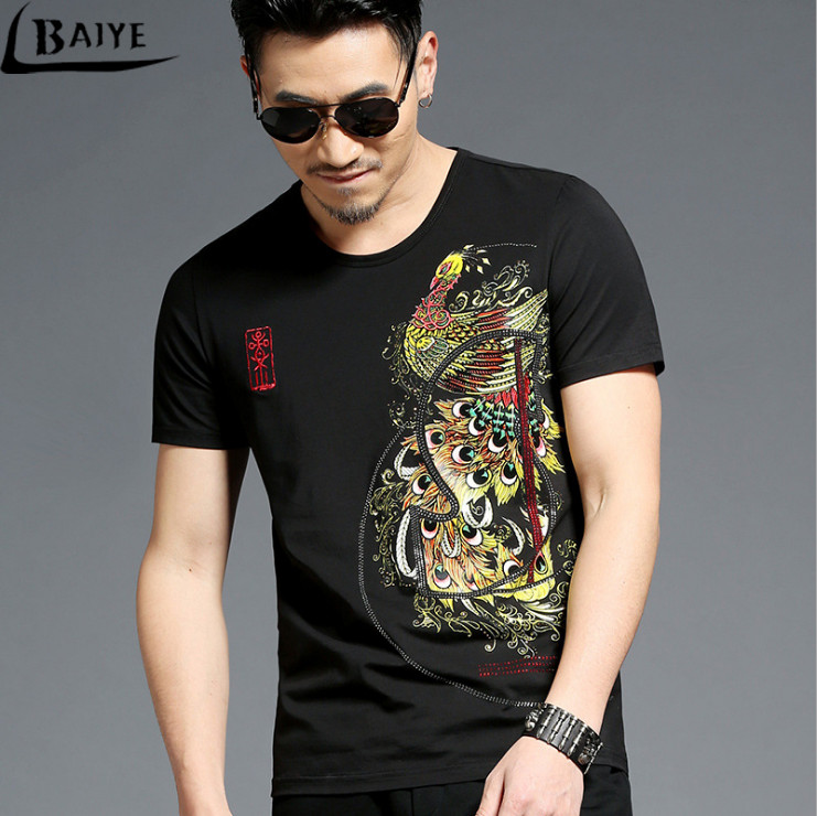 TBAIYE Moda de lujo Nueva camiseta ocasional de algodón Hombres - Ropa de hombre - foto 5