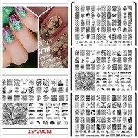 Новый 1 компл. Best продажи Дизайн ногтей инструмент изображение оборудования штамп штамповка Таблички маникюр шаблон