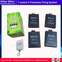 1 remote control 4 pcs receiver Stage fireworks firing system fountain pyrotechnic Wireless Igniter Fireworks firing console