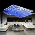 La Moda De lujo Salón Enciende 4 Colores Control Remoto 12 W 35 W 50 W de Techo de Cristal Moderna LLEVÓ Luces Cuadradas Envío Libre de la lámpara