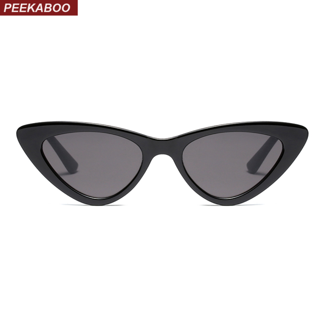 Peekaboo black cat eye sunglasses women brand designer 2018 cheap white red  sun glasses for women retro uv400 518e215e1c