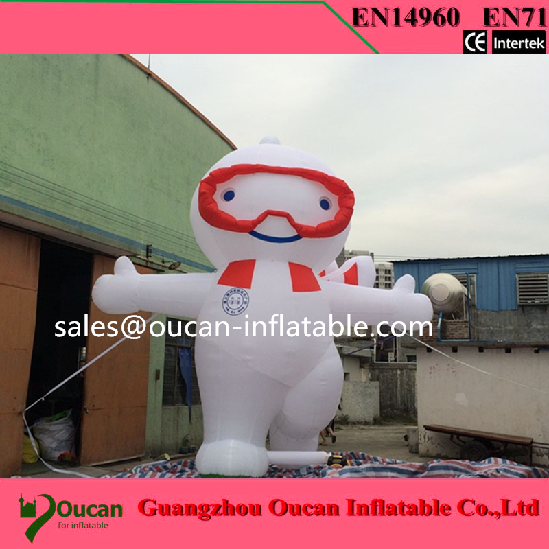 Free shipping 7m inflatable advertising cattle / cartoon cow with air blower