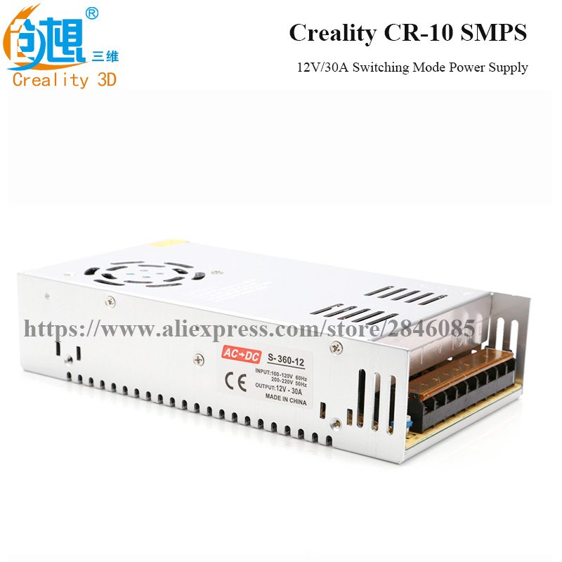 Official Store Supply 12V/30A Universal Regulated Switching Mode Power Supply For Creality 3D Printer CR-10 managing the store