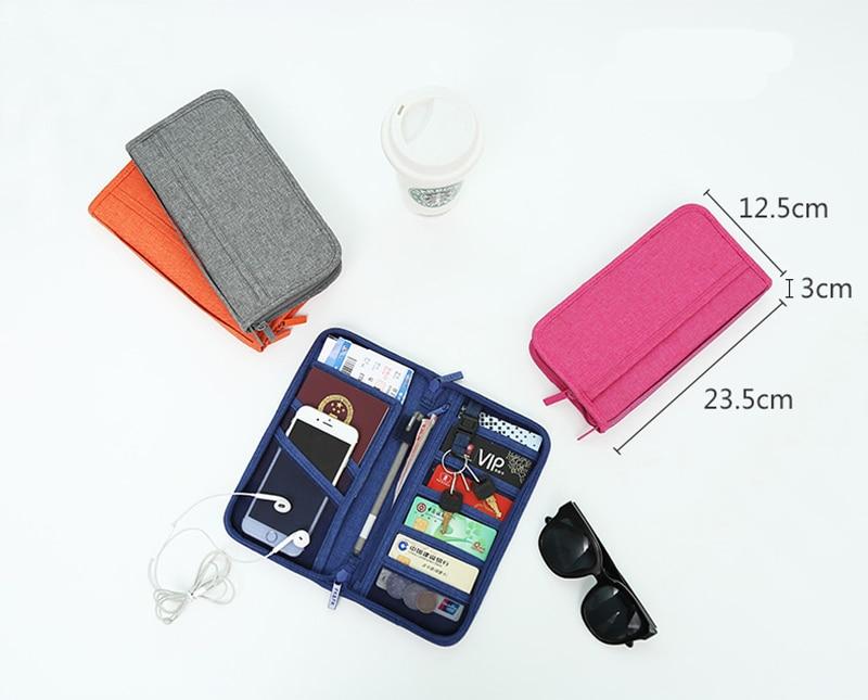 Travel Passport Cover Multifunction Wallet Document Organizer Cover Men Women Business ID Card Holder Case Wrist Strap PC0047 (1)