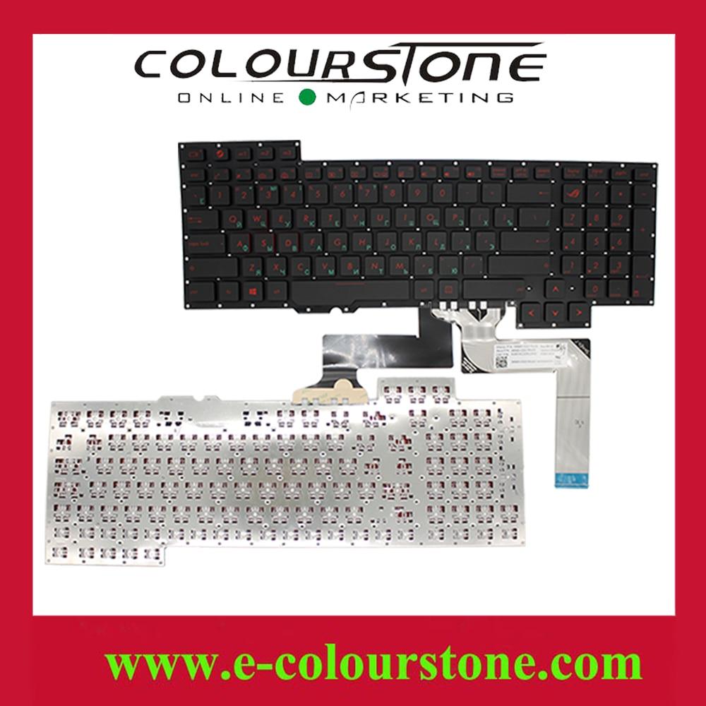 G751 RU laptop keyboard for Asus G751 G751JM G751JT G751JY 0KNB0-E601RU00 ASM14C33SUJ442 Black RU NOTEBOOK KEYBOARD
