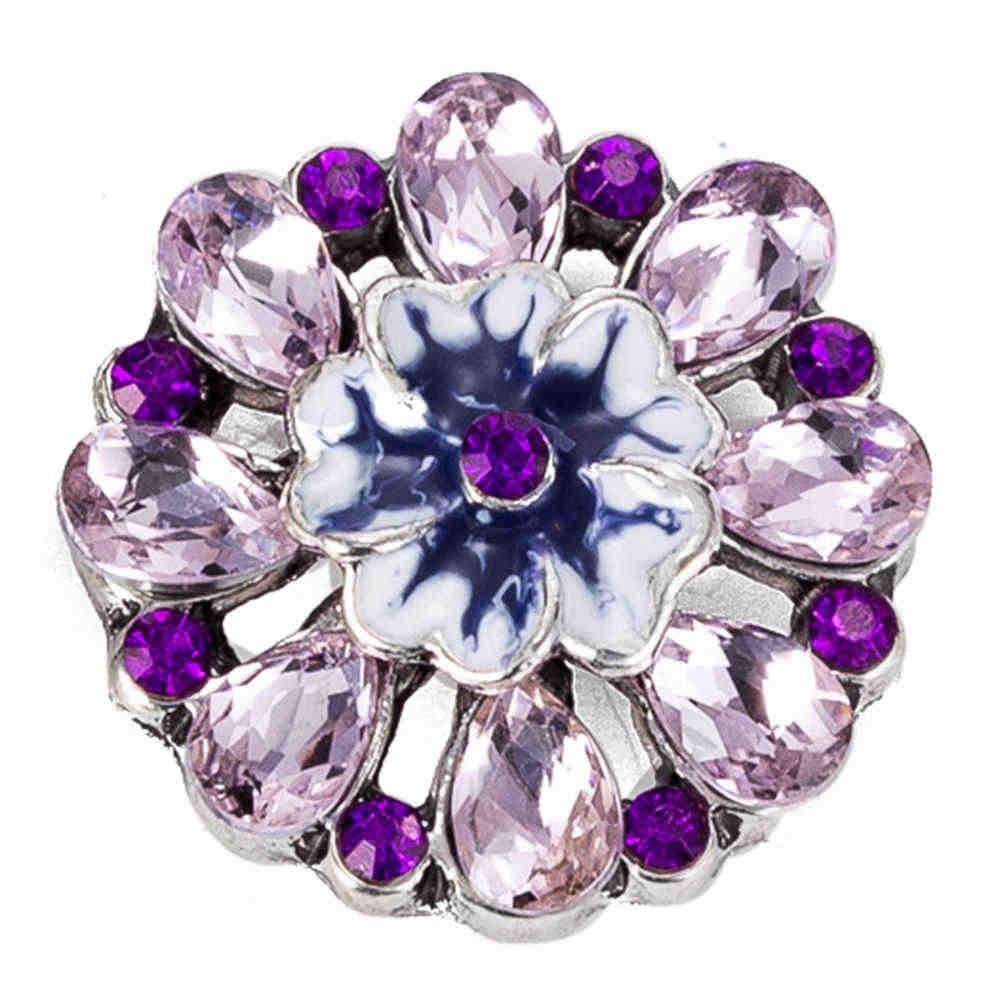 Snap nút 18 mét kim loại snaps cho snaps vòng đeo tay phù hợp gừng snaps đồ trang sức flower snap TZ9038