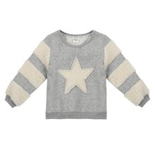 2017 BOBORA  Kids Girls Hoodies Star Pattern Plush Pullover Cotton Personality Cute Sweater