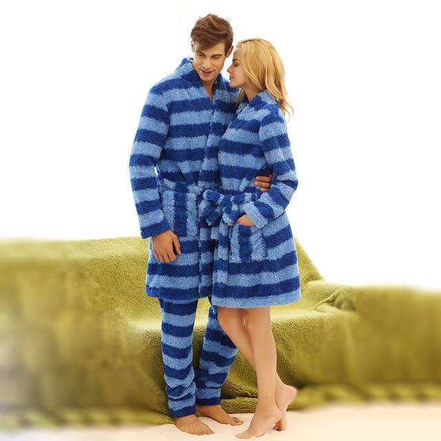 Los hombres y Las Mujeres Unisex Amantes de Microfibra Super Suave ropa de Dormir Homewear Loungewear pijama con Pantalones Largos de Pijama Robe Sets