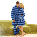 Men and Women Unisex Lovers  Super Soft Microfiber Sleepwear Home Wear Loungewear pajama Sets with Pajama Long Pants Robe Sets