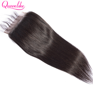 Image 2 - Queenlike مستقيم 6x6 إغلاق كبير حجم الدانتيل السويسري إغلاق قبل قطعها مع شعر الطفل شعري الطبيعي البرازيلي شعر ريمي