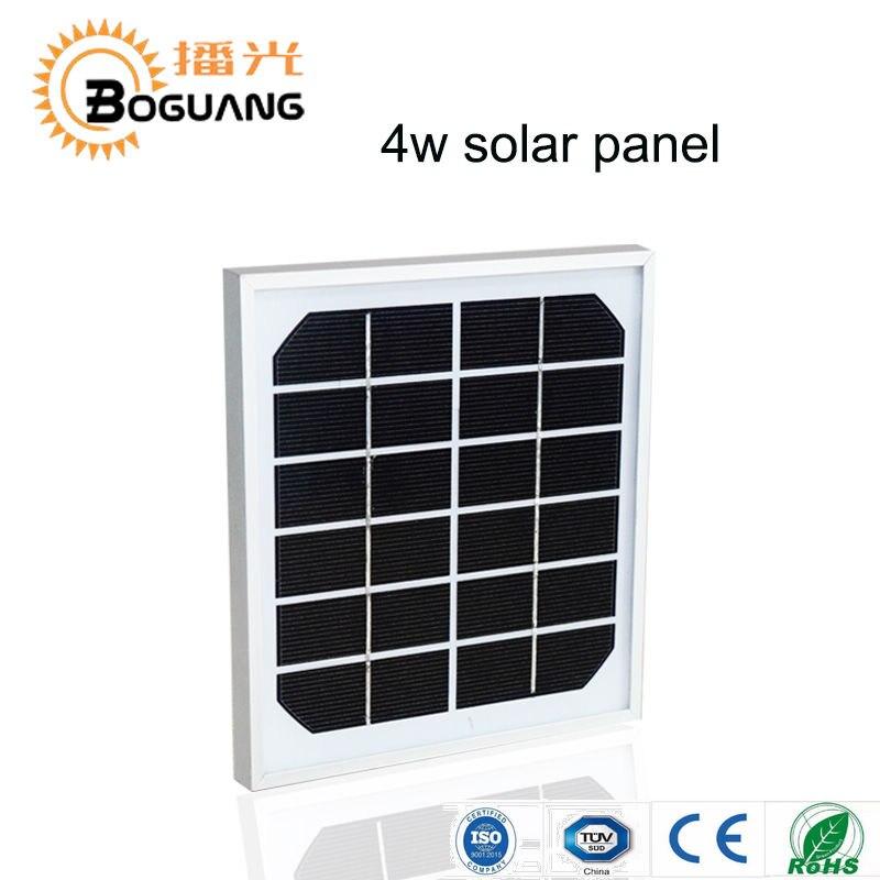 Boguang 4 w 6 v 195*185*17mm monocristallino Efficienza di vetro telaio in alluminio pannello solare solare portatile caricatore batteria esterna