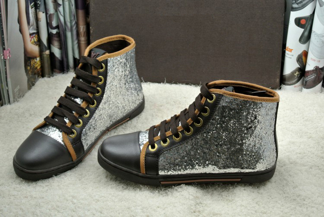 wiki sale online outlet for cheap Sequin Lace-Up High-Cut Men's Shoes buy cheap get to buy cheap 2014 new rX4OkX