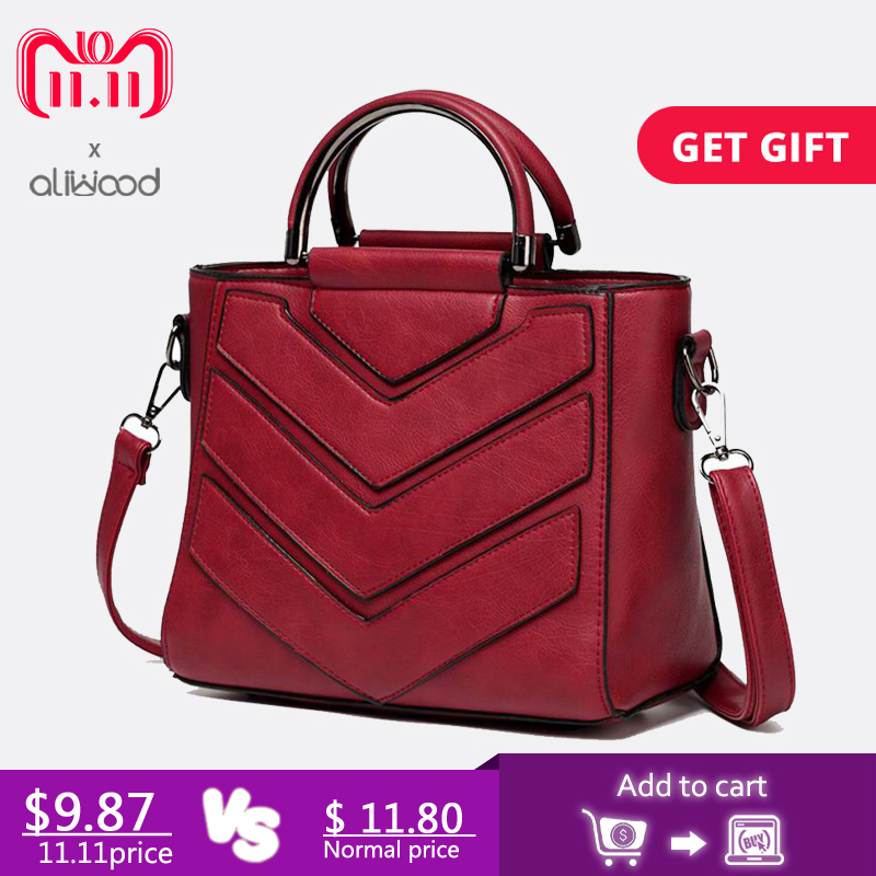 aliwood Women Bag PU Leather Handbags Ladies Crossbody Bags Trendy Elegant Tote Female Shoulder Messenger Bags Bolsas Feminina цена