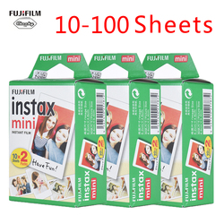 Genuine 10-100 Sheets fujifilm Instax Mini Film Photo Film Paper For Fuji Instax mini 9 8 7s 25 50 90 Instant Photo Film Paper