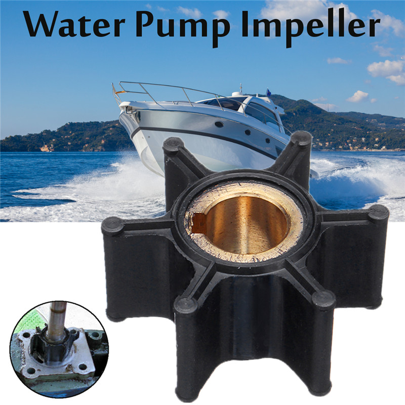 Water Pump Impeller 387361/ 763735 for Johnson Evinrude OMC BRP 2-6HP Outboard 6 Blades Diameter 35mm Rubber Black