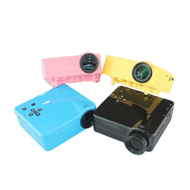 ¡ Venta caliente! 4 Color de LA UE/EE.UU. Plug HDMI LED Proyector de Películas de Vídeo Multimedia Home Cinema Teatro AV VGA TV USB Promoción