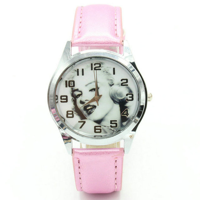 Free Shipping 1pcs Cartoon SWholesale Marilyn Monroe Fashion Lady Wrist Watch
