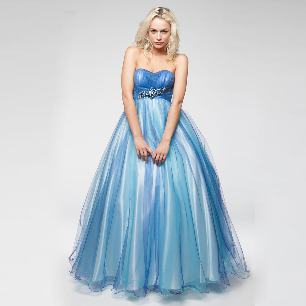 Wedding Gown Wholesalers: 2016 Spring Blue Pleated Ball Gown Sweetheart Bridal