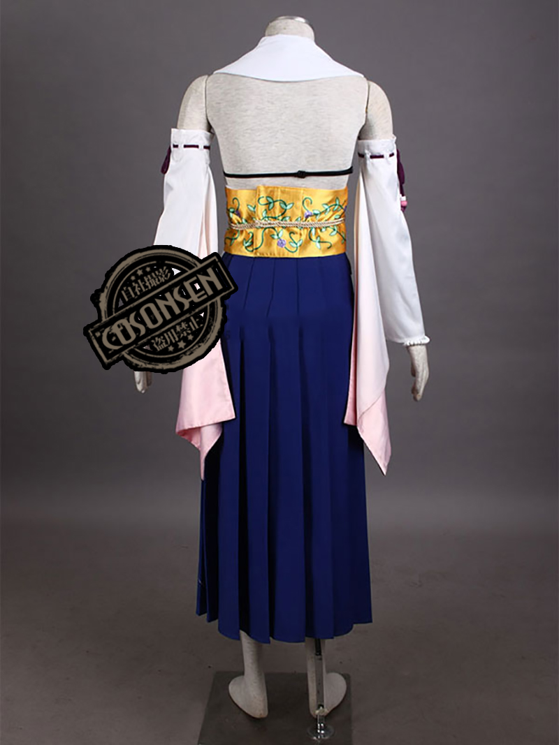 Game Final Fantasy X10 Yuna Cosplay Costume Summoning Suit Women Full Set Dress