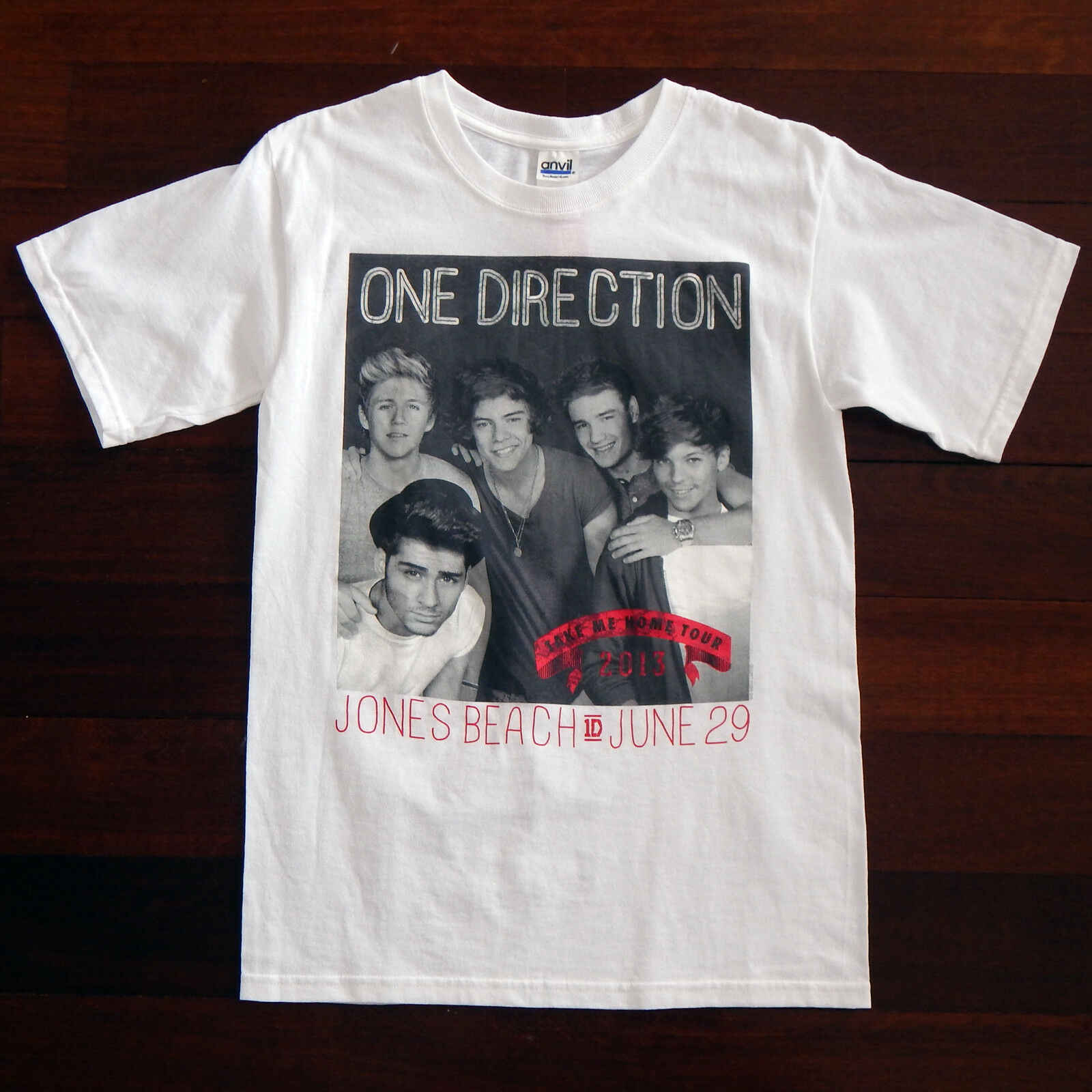 One Direction 2013 Take Me Home Tour Jones Beach Official T Shirt Womens Small T Shirts Aliexpress