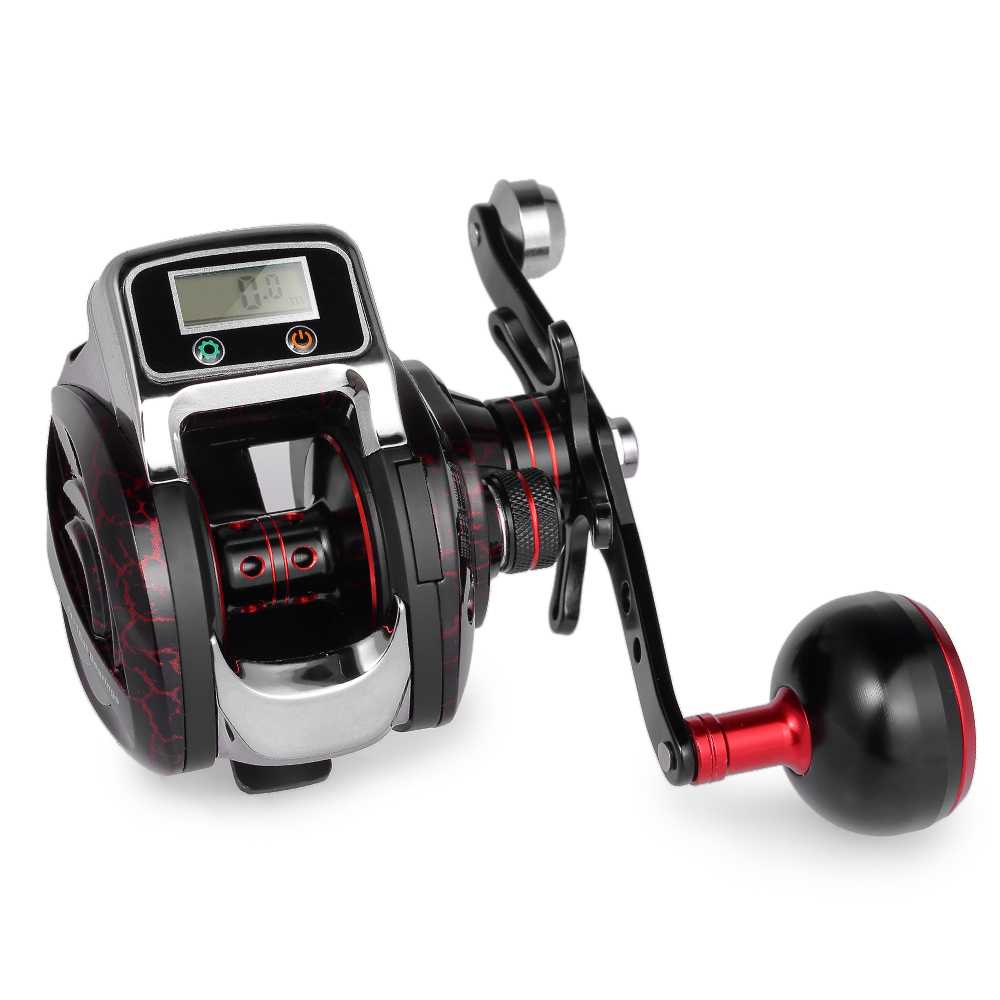 New Fishing Line Counter Reel Fishing 14 1 BB Ball Bearing Bait Casting Fishing Reel GT